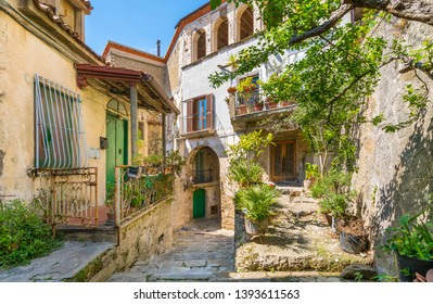 Scenic sight in Castellabate. Cilento, Campania, southern Italy.