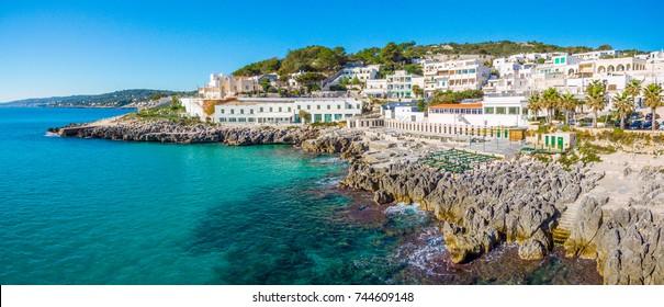 Scenic sight in Castro, in the Salento region of Puglia (Apulia), Italy.