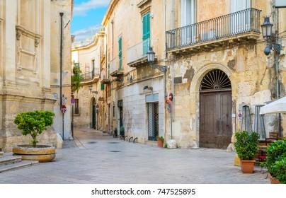 Scenic sight in Lecce, Puglia (Apulia), southern Italy.