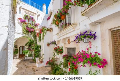 Scenic sight in the little town of Cisternino, Province of Brindisi, Apulia (Puglia), Italy.