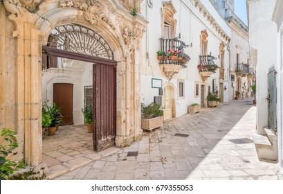 Scenic sight in Locorotondo, Bari Province, Apulia, southern Italy.