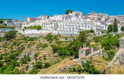 Scenic sight in Monte Sant'Angelo, ancient village in the Province of Foggia, Apulia (Puglia), Italy.