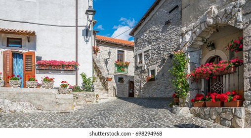 Scenic sight in Opi, rural village in Abruzzo National Park, province of L'Aquila, Italy.