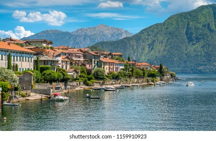Scenic sight in Ossuccio, small and beautiful village overlooking Lake Como, Lombardy Italy.