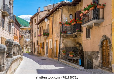Scenic sight in Scanno, province of L'Aquila, Abruzzo, central Italy.