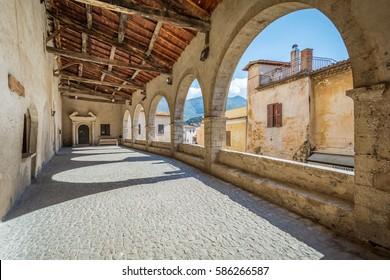 Scenic sight in Sermoneta, medieval village in Latina Province, Italy
