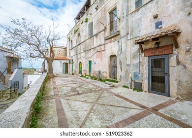 Scenic sight in Vico Garganico, old rural village in Foggia Province, Puglia (Italy), November-09-2016