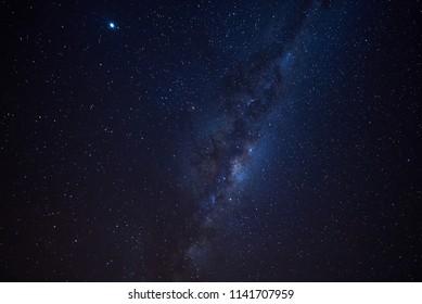 The scenic sky with galaxy at lake Tekapo, New Zealand