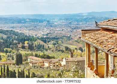 Scenic Skyline View of Florence. Tuscany, Italy