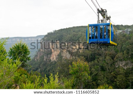 Scenic Skyway in Blue Mountains. Australia.