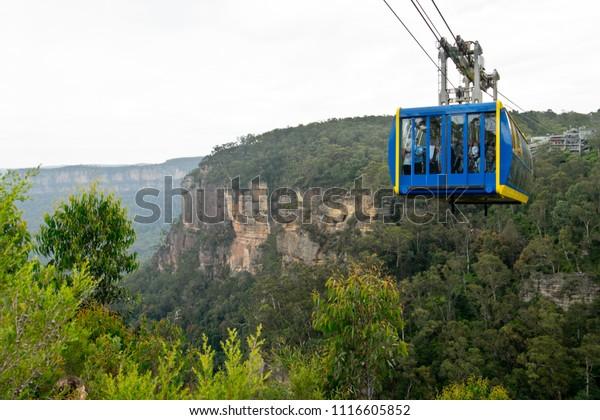 Scenic Skyway in Blue Mountains. Australia.