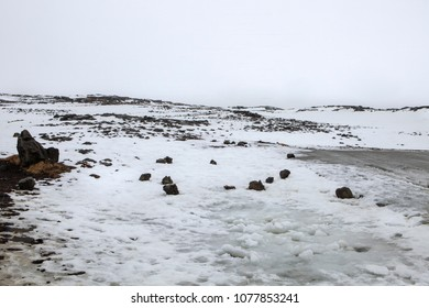 A scenic snow covered landscape on the Reykjanes Pennisula