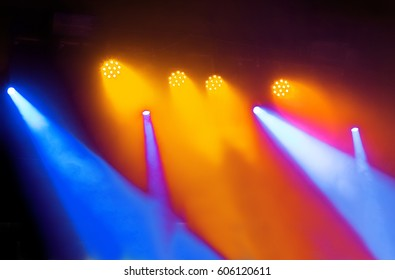 scenic spotlights against dark background