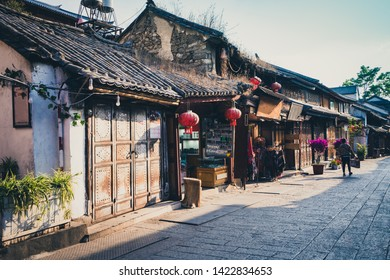 Scenic street in the Old Town of Dali,Yunnan,China.d
