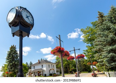 Scenic streets of Kleinburg, an unincorporated village in the city of Vaughan, Ontario, Canada.