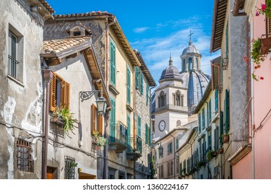 Scenic summer morning sight in Montefiascone, province of Viterbo, Lazio, central Italy.