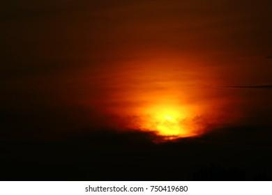 scenic sunrise is beautiful scene for background