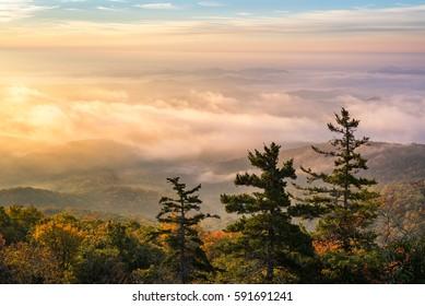 Scenic sunrise, Blue Ridge Mountains, North Carolina