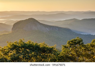 Scenic sunrise, Looking Glass Rock, North Carolina