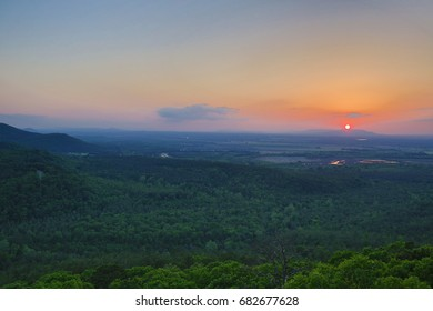 scenic sunset great view Arkansas river valley