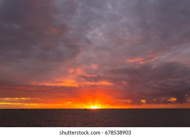 scenic sunset sky , dramatic cloud sky - colorful clouds - Shutterstock ID 678538903
