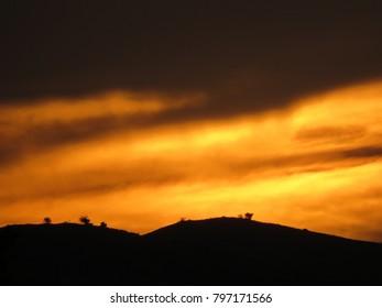 Scenic sunset view.