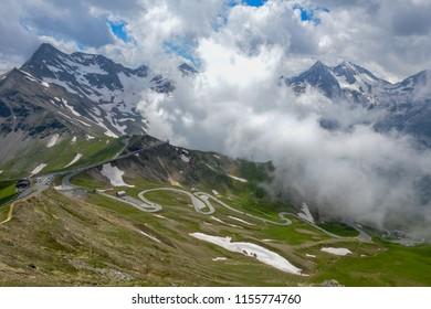 Scenic surroundings near the Grossglockner high alpine road on Austria