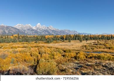 Scenic Teton Autumn Landscape