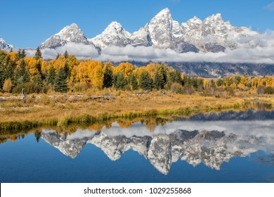 Scenic Teton Autumn Reflection
