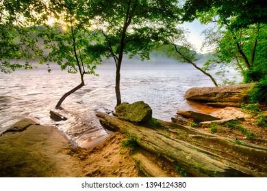 Scenic view along Chattahoochee River in Atlanta, Georgia
