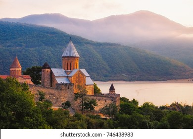 Scenic view of Ananuri fortress, Country of Georgia
