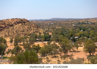 Scenic view from Anzac Hill near Alice Springs in the Northern Territory of Australia