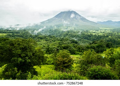 Scenic View of Arenal Volcano and Rain Forest - Costa Rica