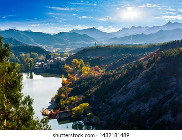 scenic view of autumn landscape in huangshan,anhui province,china.