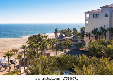Scenic view of the beach and Sea of Corez in Cabo San Lucas, Mexico