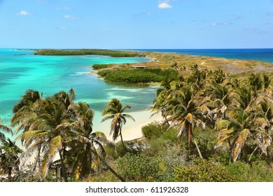 Scenic view of beautiful beaches, Isla Contoy, Mexico