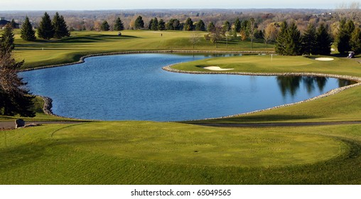 Scenic view of beautiful golf course