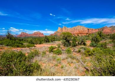 Scenic view of the beautiful landscape of Sedona in Arizona.