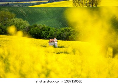 Scenic view of beautiful Moravian Tuscany landscape in South Moravia, Czech Republic.