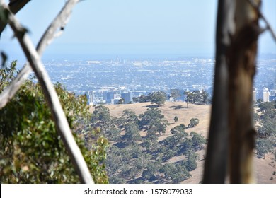 Scenic View from Belair National-Park to Adelaide City, South Australia, Australia