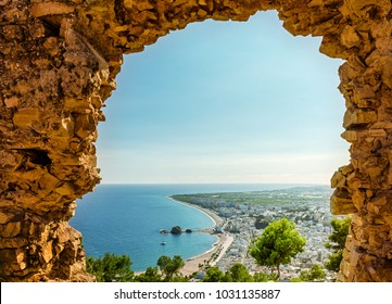 Scenic view of Blanes from the San Juan mountain. Blanes. Costa Brava. Catalonia. Spain.