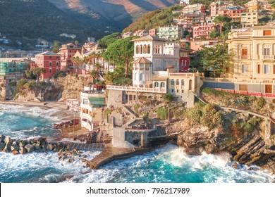 Scenic view of Bogliasco. Liguria, Genova region, Italian Riviera