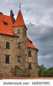 Scenic view of Bouzov castle, Czech Republic