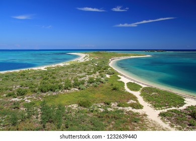 Scenic view of Bush Key, Long Key, and in the extreme distance, Middle Key and East Key, Dry Tortugas National Park