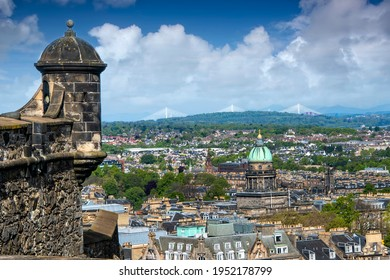 Scenic View of the city of Edinburgh from the Edinburgh Castle, Scotland - Shutterstock ID 1952178799