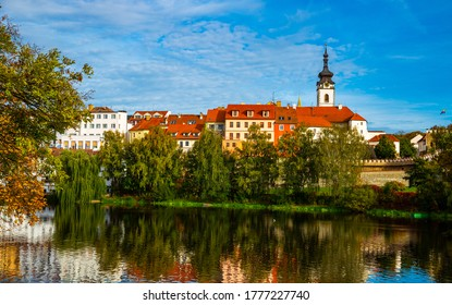 Scenic view of the city of Pisek and Otava river. Czech Republic - Shutterstock ID 1777227740