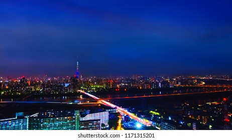 Scenic view of the city of Tokyo