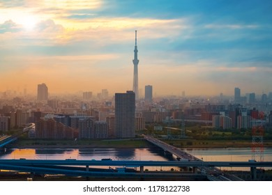 Scenic view of the city of tokyo, the capital city of Japan