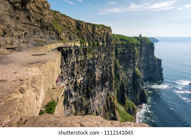Scenic view from Cliffs of Moher in County Clare - Ireland