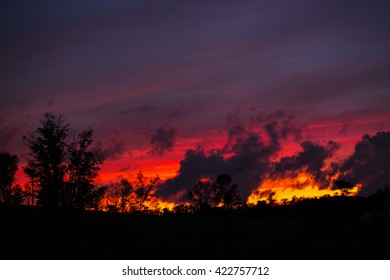 Scenic View of Colorful Sky at Sunset